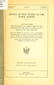 Cover of: Survey of pulp woods on the public domain by United States. Dept. of Agriculture.