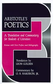 Cover of: Poetics by Aristotle