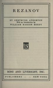 Cover of: Rezanov by Gertrude Atherton