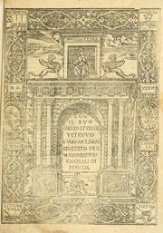 Cover of: De architectura by Vitruvius Pollio