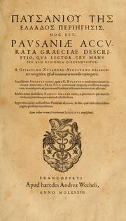 Cover of: Pausani accurata Graeciae descriptio by Pausanias.