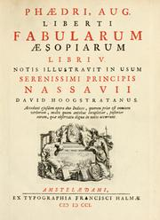 Cover of: Fabulae by Phaedrus.
