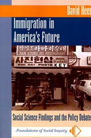 Cover of: Immigration in America's future by David M. Heer