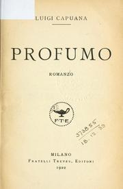 Cover of: Profumo by Luigi Capuana