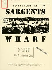 Cover of: Sargents wharf developer's kit: request for proposal by Boston Redevelopment Authority