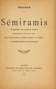 Cover of: Sémiramis by Joséphin Péladan