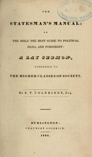 Cover of: The statesman's manual by Samuel Taylor Coleridge