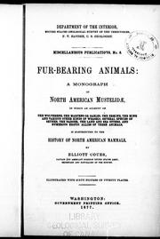 Cover of: Fur-bearing animals by Elliott Coues