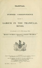 Cover of: Transvaal by Great Britain. Colonial Office.