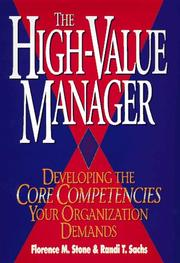 Cover of: The high-value manager by Florence M. Stone
