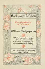Cover of: Two gentlemen of Verona by William Shakespeare