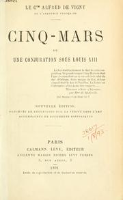 Cover of: Cinq-Mars by Alfred de Vigny