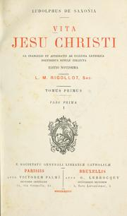 Cover of: Vita Christi by Ludolf von Sachsen