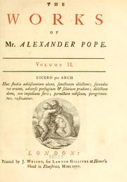 Cover of: The works of Alexander Pope, Esq by Alexander Pope