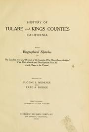 Cover of: History of Tulare and Kings counties, California by Eugene L. Menefee