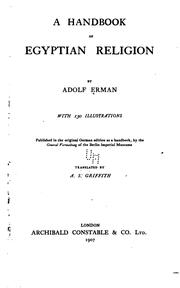 Cover of: A Handbook of Egyptian Religion by Adolf Erman