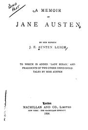 Cover of: A memoir of Jane Austen by James Edward Austen-Leigh