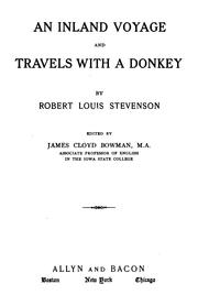 Cover of: An  inland voyage and Travels with a donkey by Robert Louis Stevenson