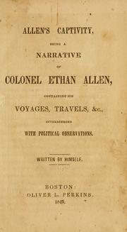 Cover of: Allen's captivity by Allen, Ethan