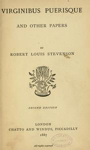 Cover of: Virginibus puerisque, and other papers by Robert Louis Stevenson