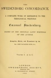 Cover of: The Swedenborg concordance by John Faulkner Potts