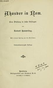 Cover of: Ahasyer in Rom by Robert Hamerling