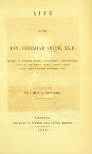 Cover of: Life of the Hon. Jeremiah Smith by John Hopkins Morison