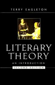 Cover of: Literary theory by Terry Eagleton