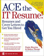 Cover of: ACE the IT Resume by Paula Moreira