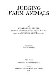 Cover of: Judging farm animals by Charles S. Plumb