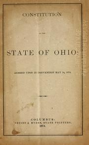 Cover of: Constitution (1851) by Ohio.