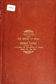 Cover of: Treaties, etc by China.