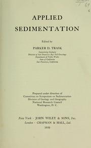Cover of: Applied sedimentation by Parker D. Trask
