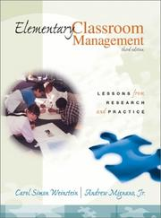 Cover of: Elementary classroom management by Carol Simon Weinstein