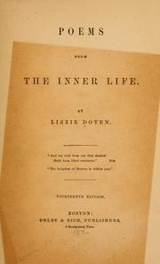 Cover of: Poems from the inner life by Doten, Lizzie