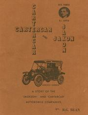 Cover of: Cartercar and Jaxon, 1900-1923 by Ronald G. Bean