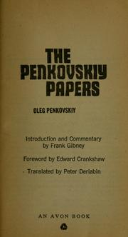 Cover of: The Penkovskiy papers by Oleg Vladimirovich Penkovski