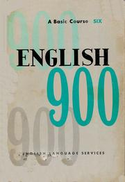 Cover of: English 900 Book 6 by Englangserv0029711908