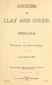 Cover of: Counties of Clay and Owen, Indiana by Blanchard, Charles