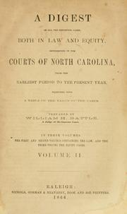 Cover of: A digest of all the reported cases by William H. Battle