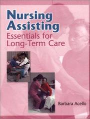 Cover of: Nursing assisting by Barbara Acello