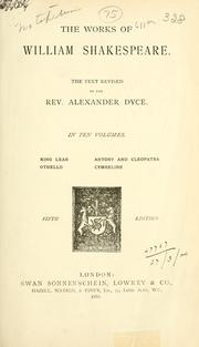 Cover of: Collected works by William Shakespeare