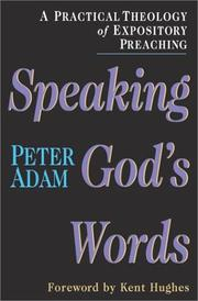 Cover of: Speaking God&#39;s Words by Peter Adam