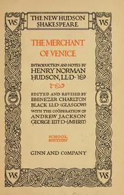 Cover of: Merchant of Venice by William Shakespeare