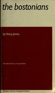 Cover of: The Bostonians | Henry James, Jr.