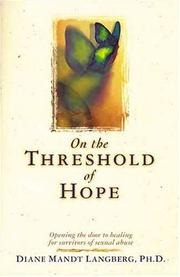 Cover of: On the threshold of hope by Diane Langberg