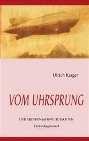 Cover of: Vom Uhrsprung by Ulrich Karger