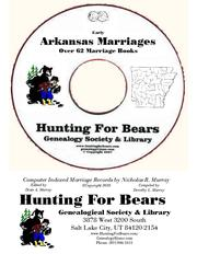 Cover of: AR Marriages CD (Complete HFB Collection) by Nicholas Russell Murray, Dorothy Leadbetter Murray, David Alan Murray