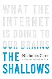 Cover of: The Shallows by Nicholas Carr