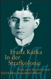 Cover of: In der Strafkolonie by Franz Kafka